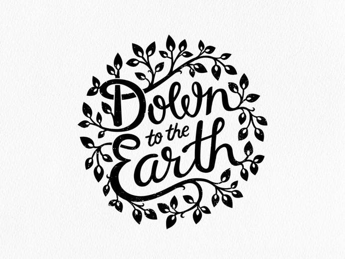 Down to the Earth by Liv Elinor via iloveligatures #logo #design #ligatures #typography