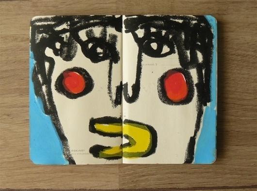 Sketchbook Artworks by Ygor Marotta I Art Sponge #ygor #sketchbook #colorful #marotta #face