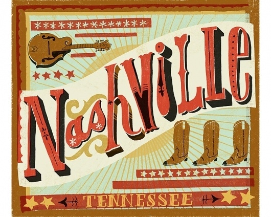 Nasvhille - The Everywhere Project - Mary Kate McDevitt • Hand Lettering and Illustration #lettering #design #graphic #typography