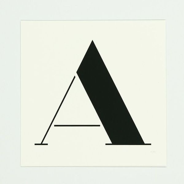 A Screen Print #type #font #typography