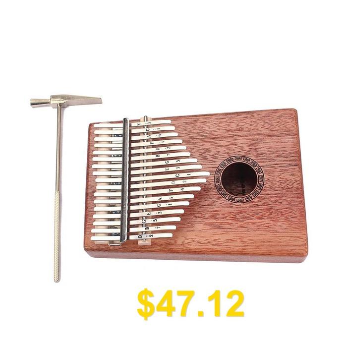 Homeland #17 #Key #Finger #Kalimba #Thumb #Piano #Pocket #Size #for #Beginners #- #ORANGE #SALMON