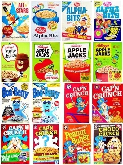 Vintage CerealCollection - TheDieline.com - Package Design Blog #packaging #print #design #illustration #vintage #cereal #layout #typography