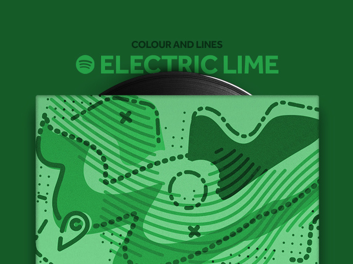 Colour and Lines Mixtape - Electric Green
