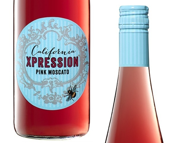 Odear California Pink Moscato #pink #ros #bee #label #wine #california