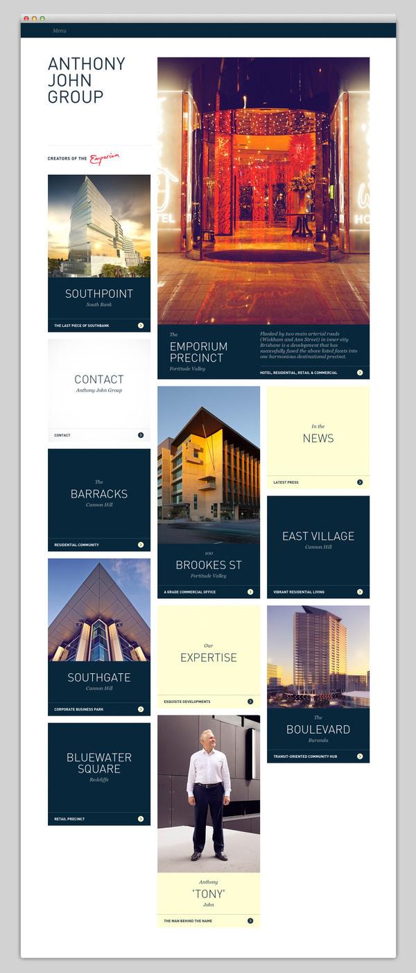 Anthony John Group #website #layout #design #web