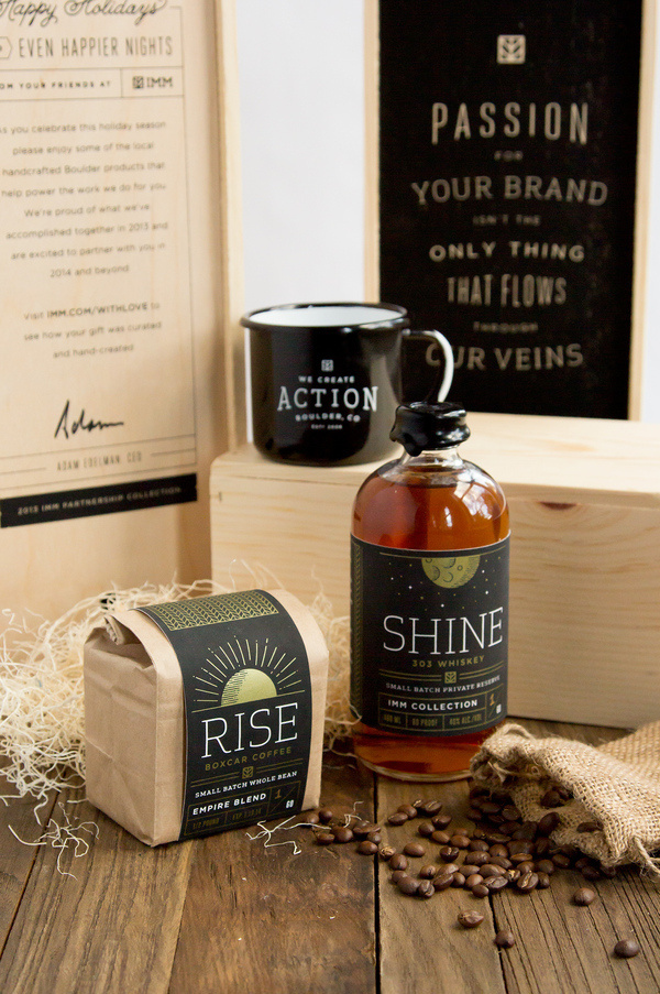IMM Holiday Gift #whiskey #agency #print #box #colorado #screen #holiday #coffee #package