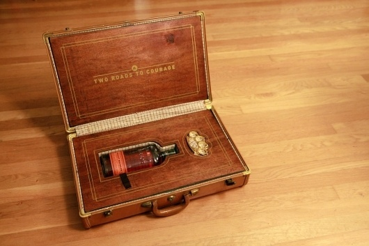 Tyler Riewer's Random Internet Stuff • If I may blow your mind for a second… this is the... #whiskey #briefcase #design #knuckles #wood #gentleman #brass