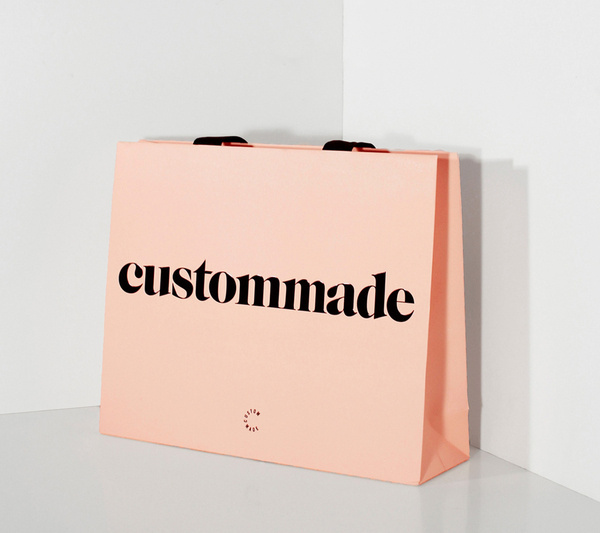 custommade #logotype #pink #salmon #collateral #bag