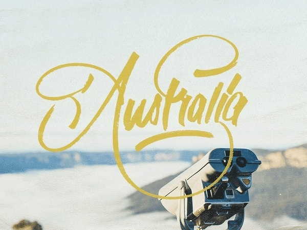 Australia #lettering #dave #coleman #drawn #hand #typography
