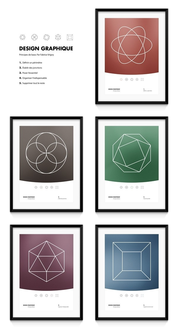 Design graphique. Principes de base. Par Fabrice Vrigny #geometry #design #graphic #minimal #poster