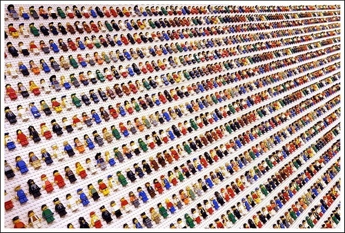 Danish Population Explosion | Flickr - Photo Sharing! #lego #child #minifigures #play #repetition #toy