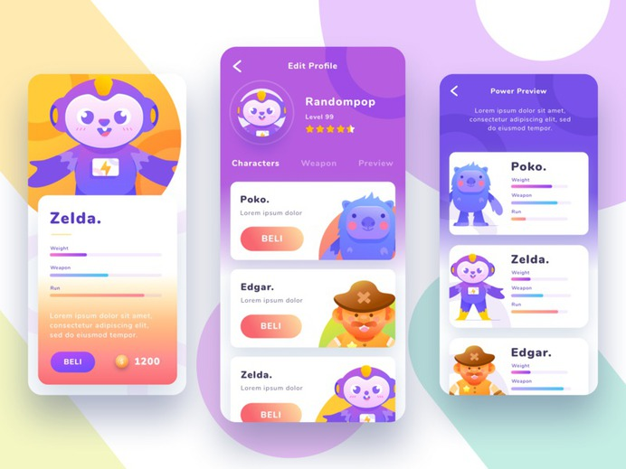 Game User Interface – Exploration by Randompopsycle