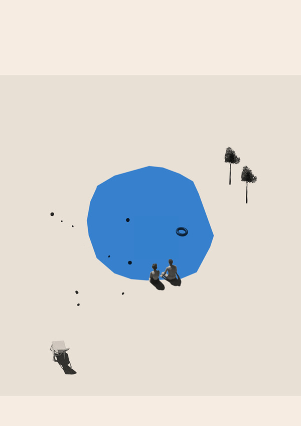 About five o #onecolor #printmaking #print #color #space #simple #mono