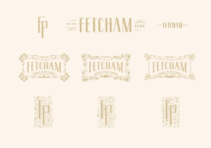Fetcham Park by Kevin Cantrell #typography #lettering #branding #identity #wordmark