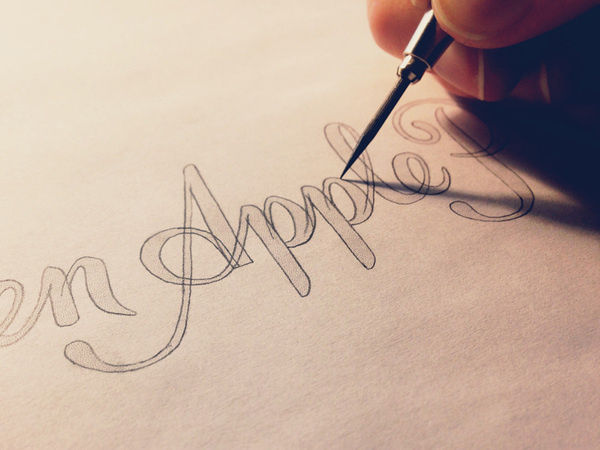 Apple Sketch #lettering