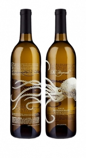 Innovative Design: Wine Bottles #bottle #packaging #label #wine #illustration