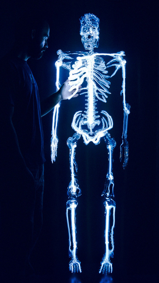 Embodiment: A Neon Skeleton by Eric Franklin #light #neon #skeleton