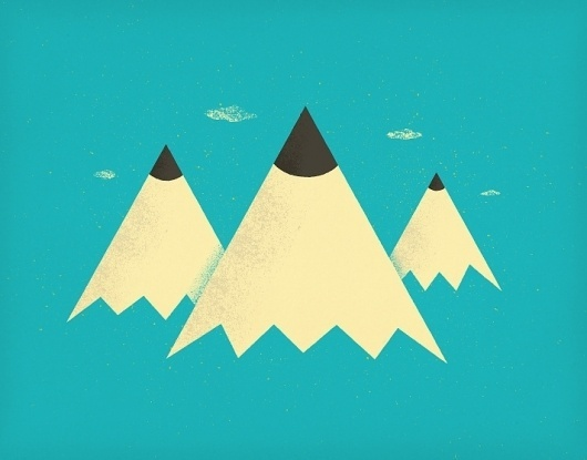 All sizes | Pencil Mountains | Flickr - Photo Sharing! #print #illustration