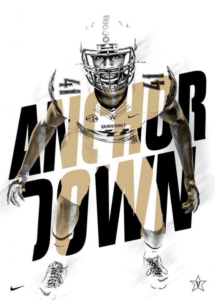 Cool Football Graphic Design Idea