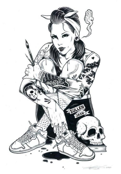 Black and White Illustrations by Adam Isaac Jackson | Abduzeedo | Graphic Design Inspiration and Photoshop Tutorials #illustration #portrait