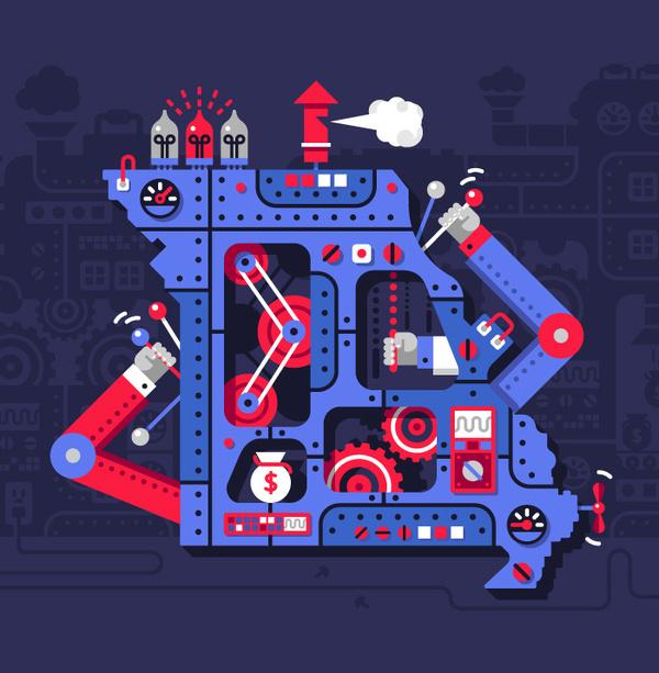 The Political Machine #illustration
