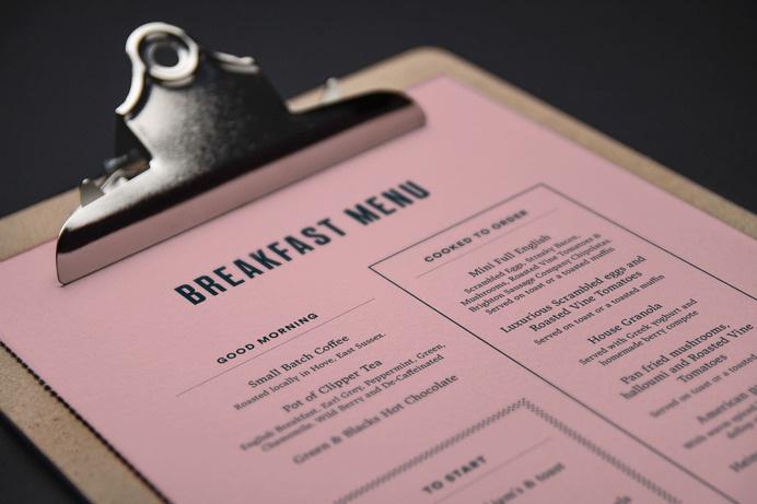 Menu design for Artist Residence #restaurant #hotel #menu