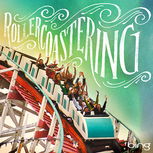 Bing Summer of Doing by Jon Contino, Alphastructaesthetitologist #rollercoaster #lettering #jon #contino #typography