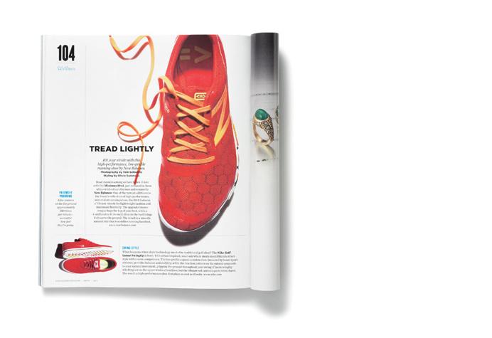 Spreads, layout, magazine