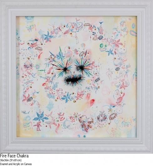 FireFaceChakra_09.jpg 1440×1560 pixels #illustration #kelsey #art #brookes