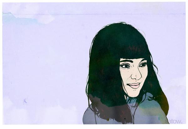 Illustration of a girl #illustration #portrait #girl
