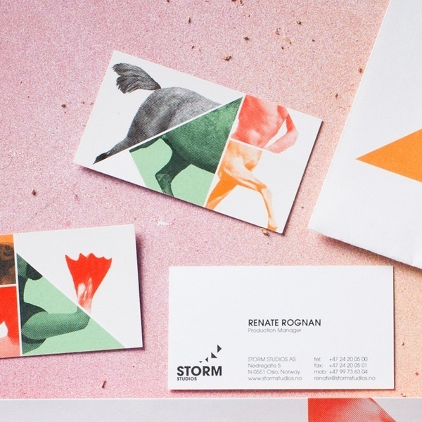 Storm Studios by Commando Group #graphic design #business card #illustration #branding