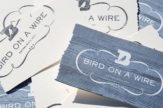 Bird on a Wire Identity Materials - FPO: For Print Only #logo #card #identity #business