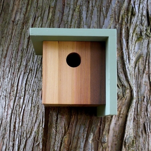 Birdhouse Modern Minimalist The Right Angle by twigandtimber #birdhouse