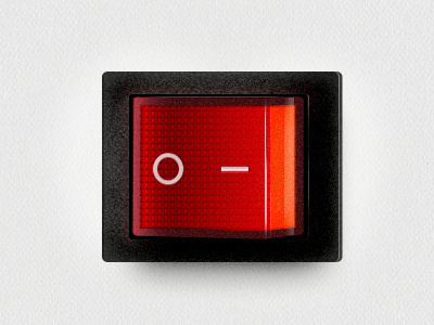 Power Switch by Rob Smittenaar #switch #button #render #photorealistic