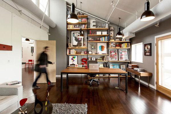 Ty Mattson SND CYN creative office www.mr cup.com #interior #loft #workplace #office #design #wood #workspace #shelf
