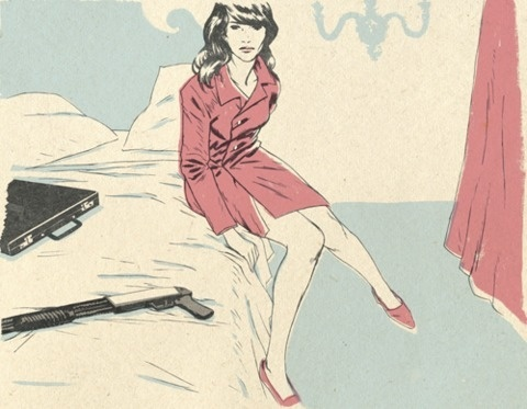 FFFFOUND! #gun #illustration #girl