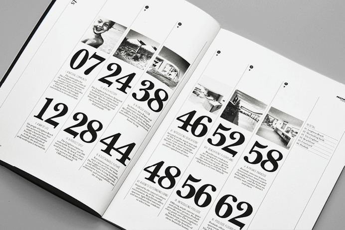 Monogram Design The Leighton Contents #spread
