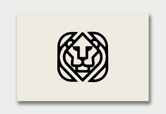 Lion Logo Identity Mark