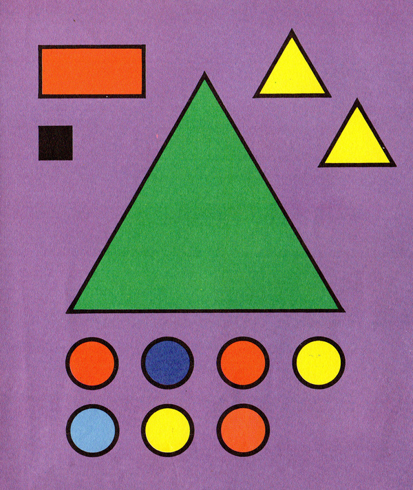 Shapes #yellow #shapes #circles #triangles #purple #blue #green