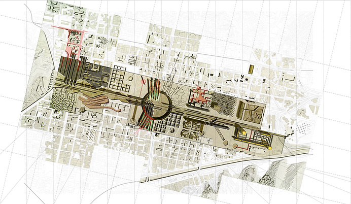 Adriana Useche. [Topic] Studio. MA Architecture // The Awakening of our Facilities - 2_urban plan #urban