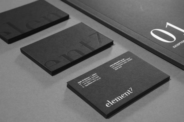 Element7 (Print / Branding) #stationary #emboss #white #black