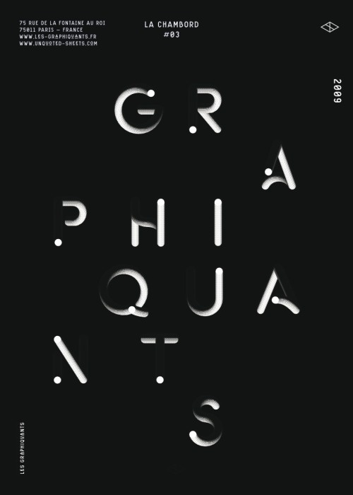 anothergraphic: les Graphiquants — Type 2009 #print