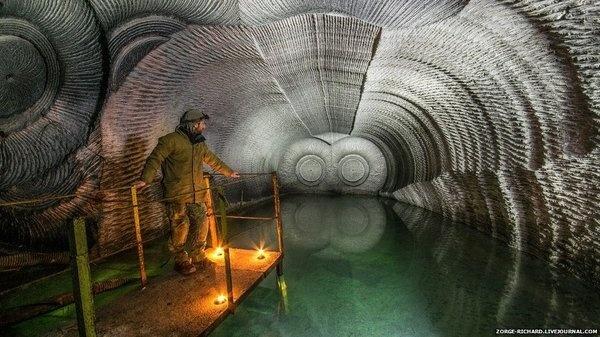 Inside a gypsum mine. #photography