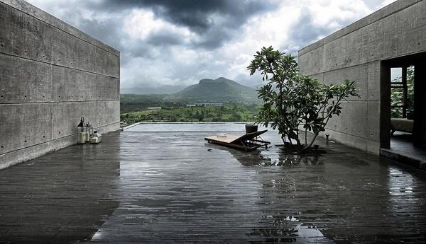 CJWHO ™ (The House Cast in Liquid Stone, Khopoli,...) #concrete #india #design #interiors #landscape #pool #architecture #luxury