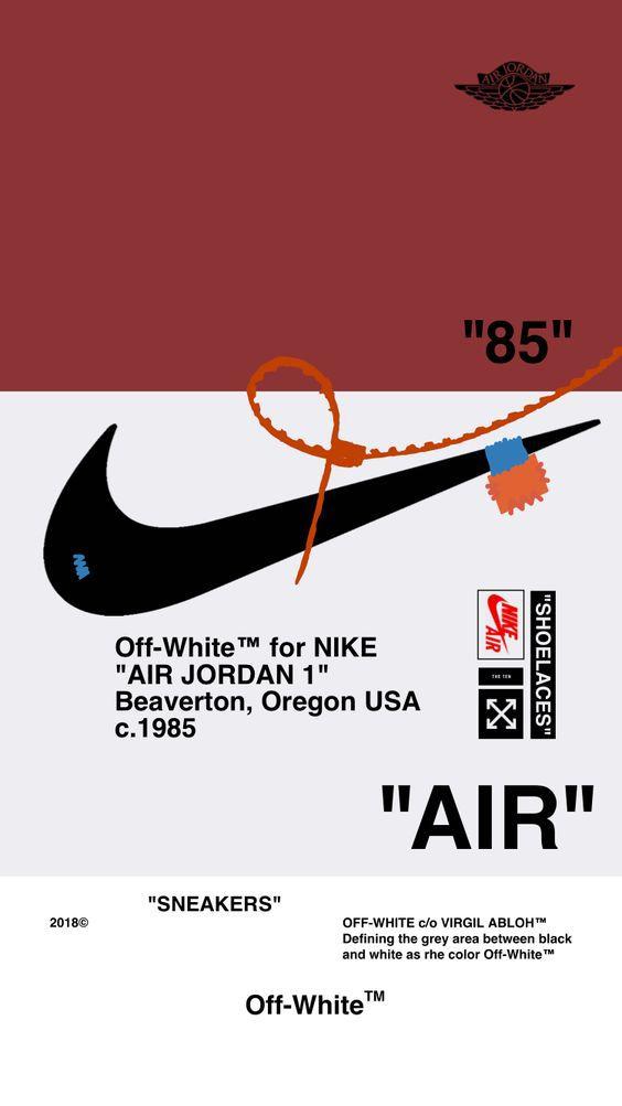 "Off-White™WALLPAPER IPHONE 壁紙 18/5/7 ""AIR JORDAN 1"" OFFWHITE オフホワイト android"