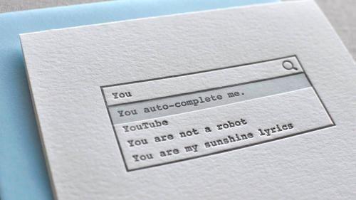 Geeky Valentine card #post #analog #card #digital #humor