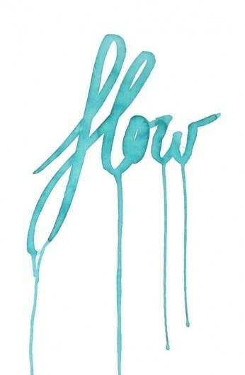 Demure #blue #watercolor #typography