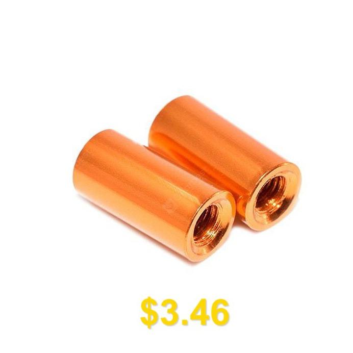 M3 #10mm #Aluminum #Column #Standoff #Cylinder #Shape #10pcs #- #ORANGE