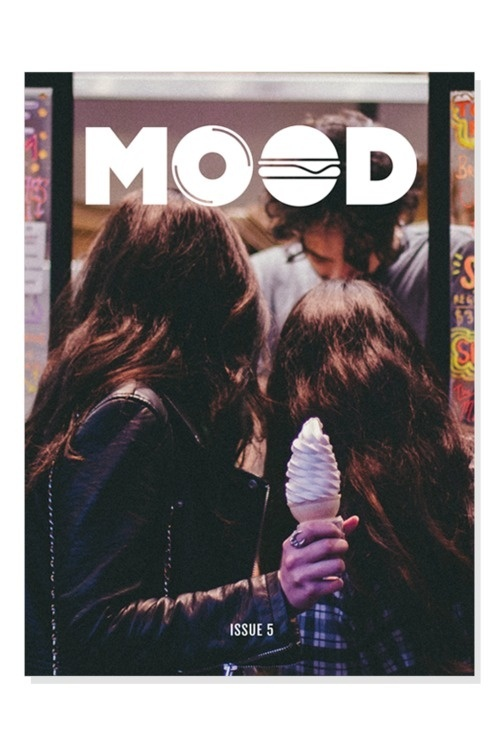 MOOD Music + Food Mag #cream #ice #publication #photography #logo #layout #magazine