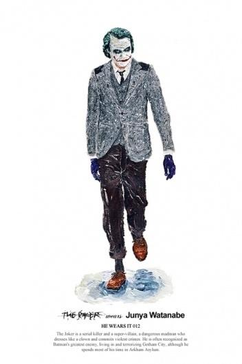 HE WEARS IT 2 on the Behance Network #fashion #joker #illustration #batman